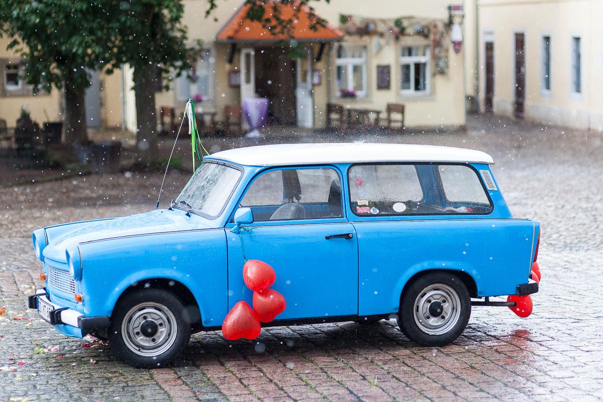 Hochzeitskutsche Trabant
